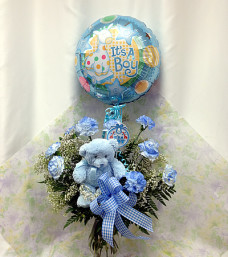 Congratulations Baby Flowers (Boy)