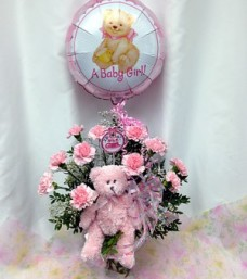 Congratulations Baby Flowers (Girl)