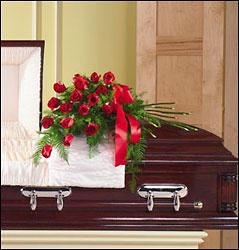 Funeral_Casket_Flowers_140-Simple_Classic_-Rose_Lougheed_Flowers_Florist_Sudbury