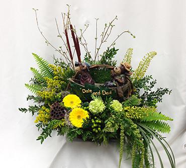 Funeral_Flowers_Custom_Design_Fishing_Buddy_LF018_Lougheed_Flowers_Florist_Sudbury