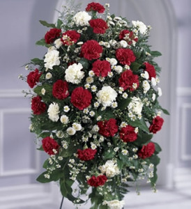 Funeral_Flowers_Standing_Crimson_White_Tribute_Lougheed_Flowers_Florist_Sudbury