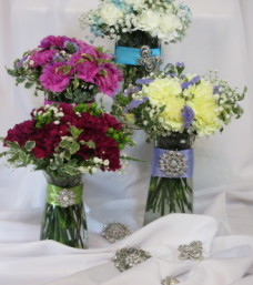 Lougheeds Sparkle Broach Bouquet Assortment