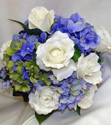 Cool Blue Silk Bridal