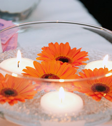 Orange Gerbera Centerpiece