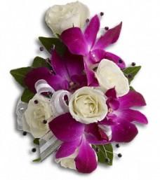 Fancy Orchids & Roses Wristlet