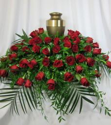 """Red Rose """"Urn"""" Spray"""