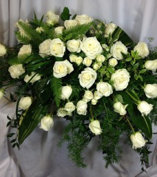 Elegant White Rose Spray