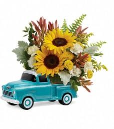 Teleflora's Chevy Pick-up Bouquet