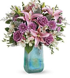 Teleflora Art Glass Treasure Bouquet