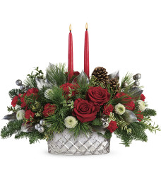 Teleflora Merry Mercury Centerpiece