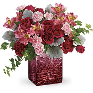 2020 Valentines Teleflora Ooh La Ombre Black Book Image & Menu